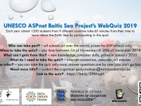 The UNESCO ASPnet Baltic Sea Project's WebQuiz 2019 is ready for students all over Baltic Sea region to participate!